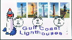 Gulf coast Lighthouses- All 5 Stamps- 07/23/09